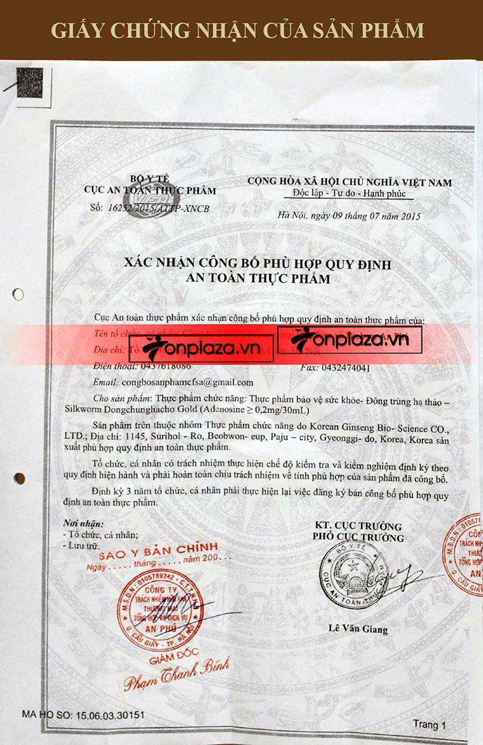 giấy chứng nhân dtht sam sung 60 gói