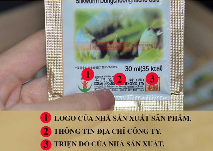 nhận biết đông trùng hạ thảo sam sung 60 gói chính hãng 13