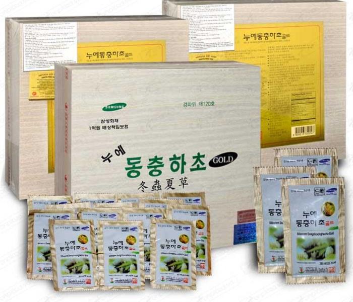 Đông trùng hạ thảo Samsung Hàn Quốc 60 gói hộp gỗ
