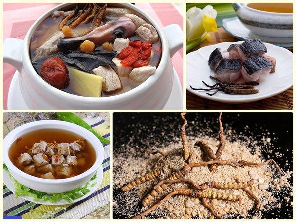 Đông trùng hạ thảo Tây Tạng có thể được chế biến thành nhiều món ăn khác nhau